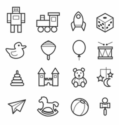 Toys icon collection vector image vector image