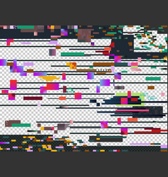 glitch noise texture isolated glitched vector image