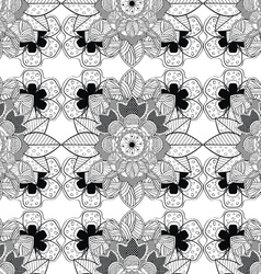 Lace Black and White Seamless Pattern vector image vector image