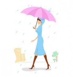 lady with umbrella vector image vector image