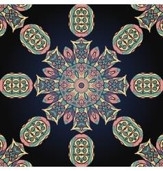 Seamless mandala background vector image vector image
