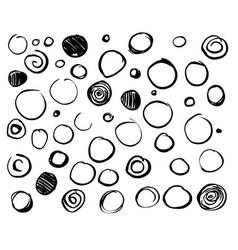 set scribble circles vector image vector image