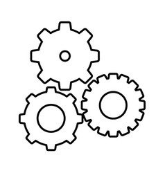 silhouette gears sign icon vector image vector image