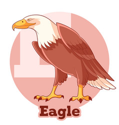 abc cartoon eagle vector image vector image