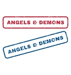 Angels Demons Rubber Stamps vector image