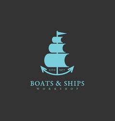 boats and ships logo vector image