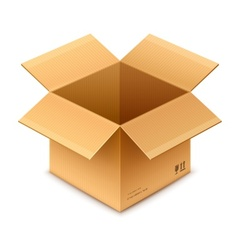 open box cardboard package vector image