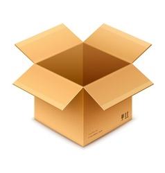 open box cardboard package vector image vector image