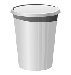 plastic cup vector image vector image