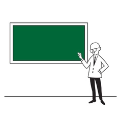 A teacher at the school board vector image