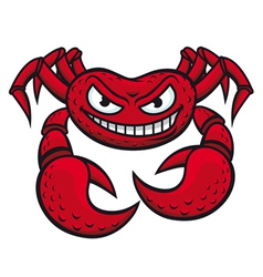 angry red crab vector image