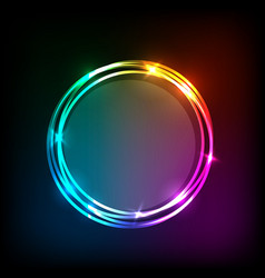 circles banner on colorful abstract background vector image