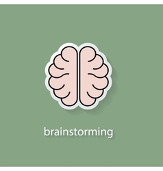 Flat style brain icon vector image vector image