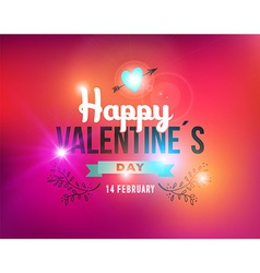 Happy Valentines day vintage label card vector image vector image