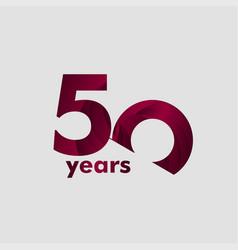 50 year anniversary elegant number template design vector