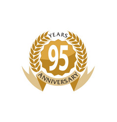 95 years ribbon anniversary vector image
