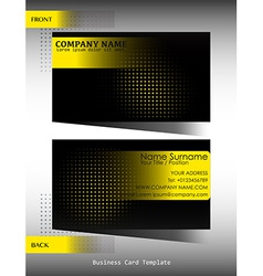 A black and yellow business card vector
