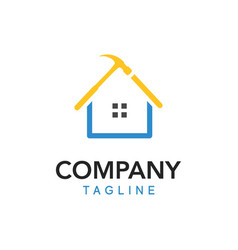 a cool and unique logo for a home improvement vector image