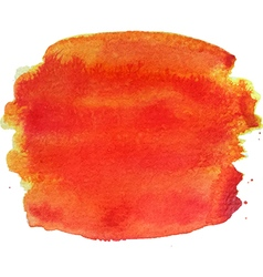Abstract watercolor hand paint orange texture vector
