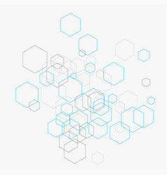 Abstract with hexagons and vector