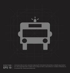 ambulance icon - black creative background vector image