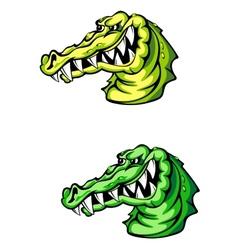Angry crocodile vector image