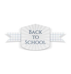 Back to school greeting banner vector