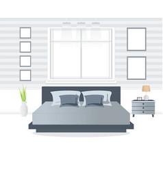 Bedroom interior design vector