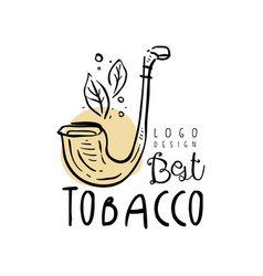 best tobacco logo design emblem can be used for vector image