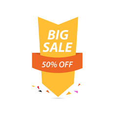 big sale of colorful discount pattern on white vector image