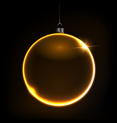 black shiny christmas background with bauble vector image