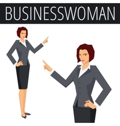 Businesswoman showing something vector