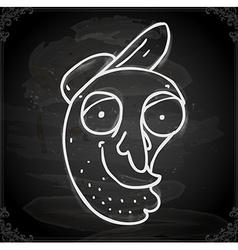 Cartoon Man on Chalk Board vector image