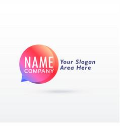 Chat logo concept design vector
