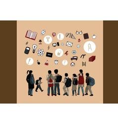 children icons vector image