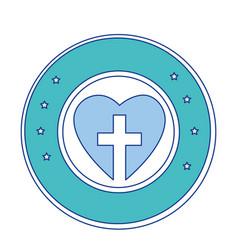 christian cross symbol icon vector image