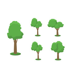collection of trees can be used to vector image