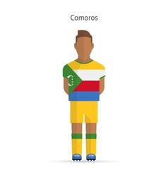 Comoros football player soccer uniform vector