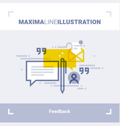 Concept client feedback and testimonials vector