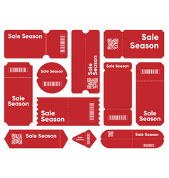 coupons with sale season writing vector image