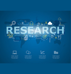 Creative infographic of business research with vector
