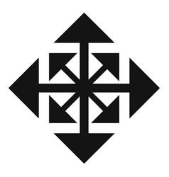 Cursor displacement arrow icon simple black style vector