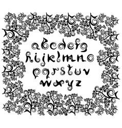 decorative cursive letters of the roman alphabet vector image