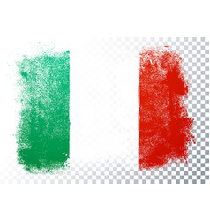 distortion grunge flag italy vector image