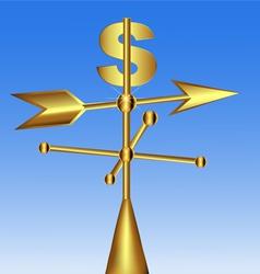 Dollar Weathercock vector image