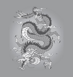 Dragon capricorn goat tattoo japanese style vector