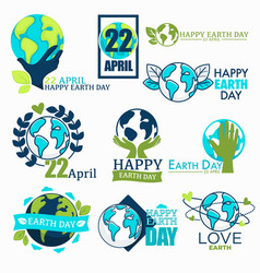 earth day ecology and environment protection vector image