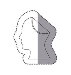 figure papper human icon vector image