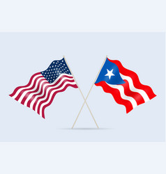flags puerto rico and us relationship vector image