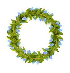 floral frame or wreath design template vector image